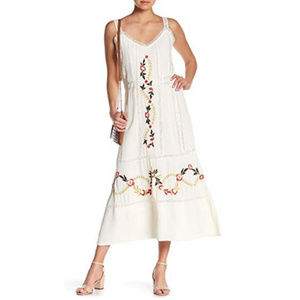 Nanette Lepore || NWT Ivory Embroidered Dress 6